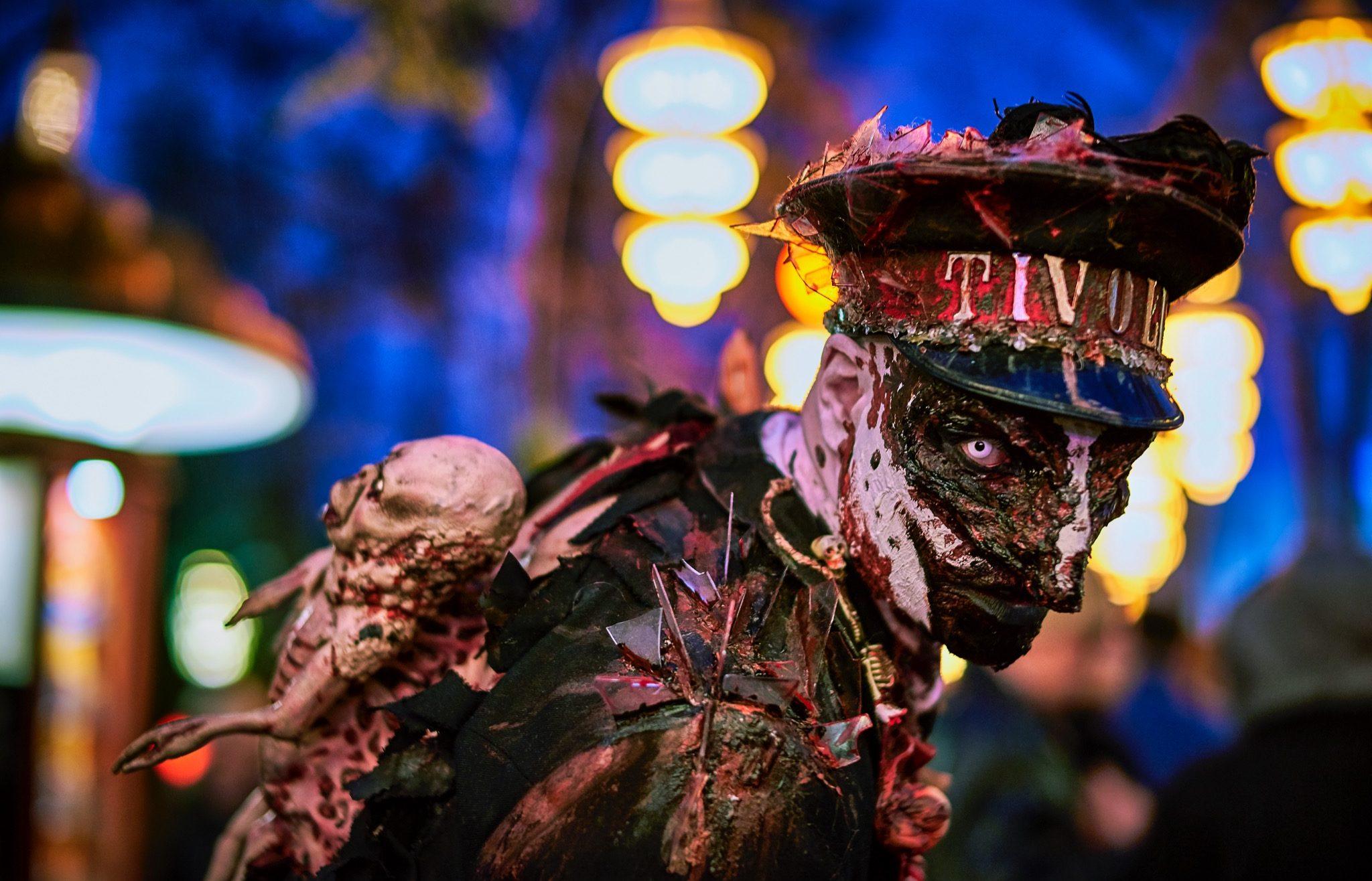 Halloween i Tivoli 2016. Scary Kontrollør Aften