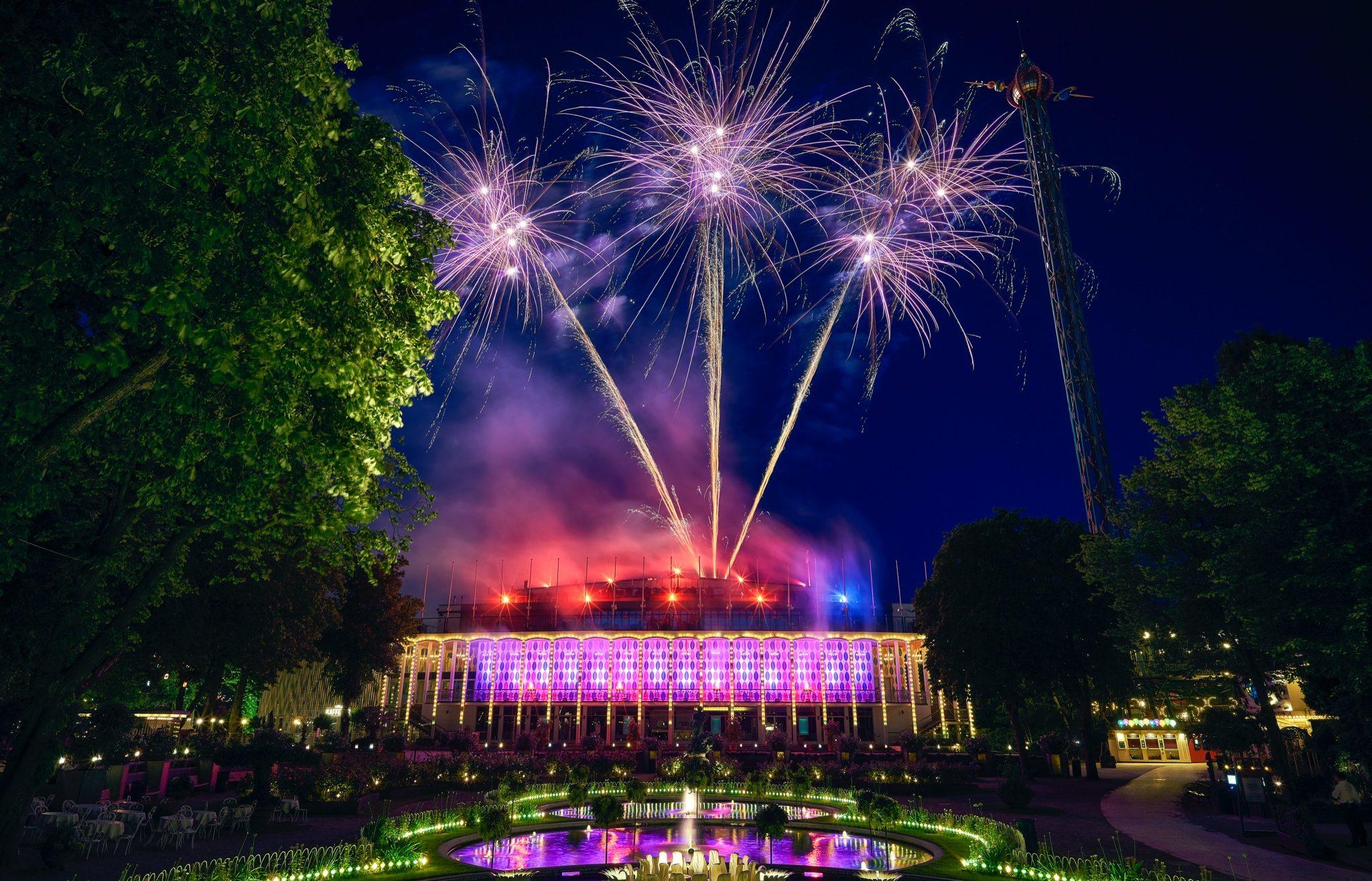 Sommer i Tivoli 2017. Lørdagsfyrværkeri